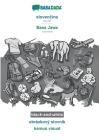 BABADADA black-and-white, slovenčina - Basa Jawa, obrázkový slovník - kamus visual: Slovak - Javanese, visual dictionary Cover Image