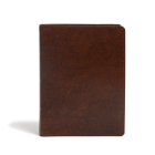 KJV Study Bible, Full-Color, Brown Bonded Leather, Indexed: Red Letter, Study Notes, Articles, Illustrations, Ribbon Marker, Easy to read Bible font Cover Image