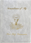 Remembrance of My First Holy Communion-Girl-White Edges: Marian Children's Mass Book Cover Image