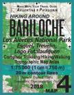 Hiking Around Bariloche Map 4 Los Alerces National Park, Esquel, Trevelin, Lago Futalaufquen Complete Trekking/Hiking/Walking Topographic Map Atlas Ar Cover Image