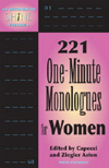 221 One-Minute Monologues for Women Cover Image