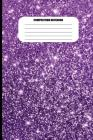 Composition Notebook: Purple Metallic Sparkle Effect (100 Pages, College Ruled) Cover Image