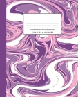 Composition Notebook: Marbled Wide Ruled One Subject Purple Cover Image
