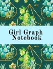 Girl Graph Notebook: Squared Coordinate Paper Composition Notepad - Quadrille Paper Book for Math, Graphs, Algebra, Physics & Science Lesso Cover Image