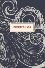 Scuba Diver Log Book: Track & Record 100 Dives - Nautical Vintage Style Octopus Design Cover Image