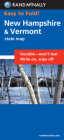 Rand McNally Easy to Fold: New Hampshire, Vermont (Laminated Fold Map) (Easyfinder S) Cover Image