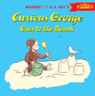 Curious George Goes to the Beach with downloadable audio Cover Image
