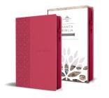 Biblia Reina Valera 1960 letra grande. Símil piel fucsia, cremallera, tamaño manual / Spanish Holy Bible RVR 1960. Handy Size, Large Print, Leathersoft, Zipp Cover Image