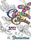Coloring Calendar 2017 (UK Edition) Butterflies Cover Image