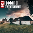 Calendar 2021 Iceland: Beautiful Iceland Photos Monthly Mini Calendar With Inspirational Quotes each Month Cover Image