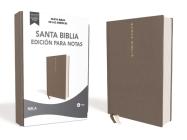 Nbla Santa Biblia Edición Para Notas, Tapa Dura/Tela, Gris, Letra Roja Cover Image