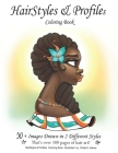 HairStyles & Profiles: Jumbo Coloring Book Cover Image