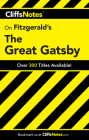 CliffsNotes on Fitzgerald's The Great Gatsby Cover Image