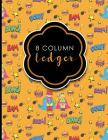8 Column Ledger: Appointment Book, Accounting Ledger For Kids, Business Ledger Book, Cute Super Hero Cover, 8.5 x 11, 100 pages Cover Image