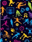 Future Allstar Sports Patterns: Sport Lover Wide Ruled Composition Book Cover Image