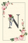 Daily To Do List Notebook N: Simple Floral Initial Monogram Letter N - 100 Daily Lined To Do Checklist Notebook Planner And Task Manager Undated Wi Cover Image