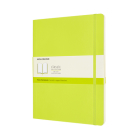 Moleskine Classic Notebook, Extra Large, Plain, Lemon Green, Soft Cover (7.5 x 9.75) Cover Image