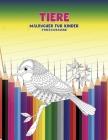 Malbücher für Kinder - Stressabbauend - Tiere Cover Image