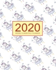 2020 Planner Weekly & Monthly 8x10 Inch: Sweet Dream Unicorn One Year Weekly and Monthly Planner + Calendar Views Cover Image