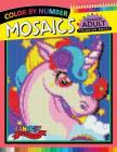 Fantasy Unicorn Mosaics Hexagon Coloring Books: Color by Number for Adults Stress Relieving Design Cover Image