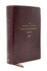 Nasb, Charles F. Stanley Life Principles Bible, 2nd Edition, Leathersoft, Burgundy, Comfort Print: Holy Bible, New American Standard Bible Cover Image