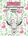 Livres à colorier pour adultes - Mandala et motifs relaxants - Animaux - Renne Cover Image