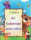 Libro de colorear para niños: animales de granja, animales de la selva, animales marinos, animales del bosque Cover Image