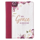 Journal Handy Luxleather His Grace Is Enough - 2 Cor 12:9 Cover Image