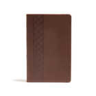 CSB Ultrathin Reference Bible, Value Edition, Brown LeatherTouch Cover Image