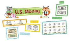 Hipster U.S. Money Mini Bulletin Board Set Cover Image