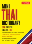 Mini Thai Dictionary: Thai-English English-Thai, Fully Romanized with Thai Script for All Thai Words (Tuttle Mini Dictionary) Cover Image