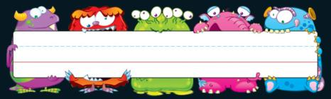 Monsters Nameplates Cover Image