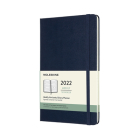 Moleskine 2022 Weekly Horizontal Planner, 12M, Large, Sapphire Blue, Hard Cover (5 x 8.25) Cover Image