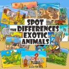 Spot the Differences - Exotic Animals: Search and Find Picture Book for Kids Ages 4 and Up Cover Image