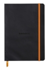 Rhodiarama Lined 6 X 8 1/4 Black Softcover Journal Cover Image