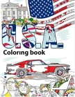 USA Coloring Book: Adult Colouring Fun, Stress Relief Relaxation and Escape Cover Image