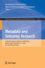 Metadata and Semantic Research: 14th International Conference, Mtsr 2020, Madrid, Spain, December 2-4, 2020, Revised Selected Papers (Communications in Computer and Information Science #1355) Cover Image
