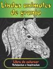 Lindos animales de granja - Libro de colorear - Relajación e inspiración Cover Image