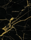 Journal: Classic Black and White Marble with Gold Inlay and Lettering - Marble & Gold Journal - 150 College-ruled Pages - 8.5 x Cover Image