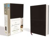NIV, Journal the Word Bible, Large Print, Imitation Leather, Black: Reflect on Your Favorite Verses Cover Image