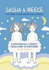 Sasha and Reece: Cut and Color Paper Dolls Book Cover Image