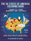 The 50 States of America Coloring Book Cover Image