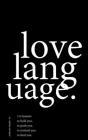 love language. Cover Image