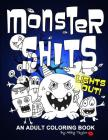Monster Shits - Lights Out!: A Sweary Doodle Adult Coloring Book Cover Image
