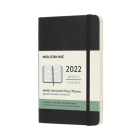 Moleskine 2022 Weekly Horizontal Planner, 12M,  Pocket, Black, Soft Cover (3.5 x 5.5) Cover Image