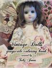 Vintage Dolls Grayscale Coloring Book Cover Image