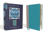 NIV Study Bible, Fully Revised Edition, Leathersoft, Teal/Gray, Red Letter, Comfort Print Cover Image