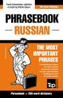 English-Russian phrasebook and 250-word mini dictionary Cover Image