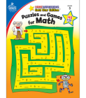 Puzzles and Games for Math, Grade 3: Gold Star Edition (Home Workbooks: Gold Star Edition) Cover Image