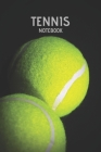 Tennis Notebook: Game Stats Score Notes Keeper Tennis Player Gift Notebook Cover Image